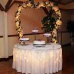 Mr. and Mrs. Tony and Alecia Kihl's Cake Table