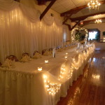 Bridal Table and Cake Table