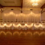 Bridal Table with Backdrop