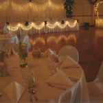 Dance Floor, Bridal Table, and Cake Table